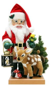 Santa with Reindeer - 2014 Limited Edition nutcracker by Ulbricht